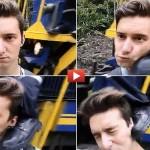 Selfie vicino al treno. Viene colpito da un calcio volante del macchinista